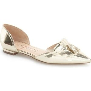 Sole Society D'Orsay Metallic Flat